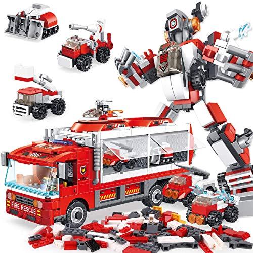 PANLOS STEMブロック 6in1ロボットおもちゃ 知育玩具 男の子 子供おもちゃ 組み立ておもちゃ ビルディングレンガセット 教育学習キット 6歳以上 車ブロック 立体パズル すべての主要ブランドとの互換性