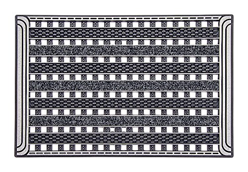 CarFashion PUR|GridClean Türmatte, TPE-VC 100% nachhaltig, Anthrazit Metallic, 59 x 39 cm