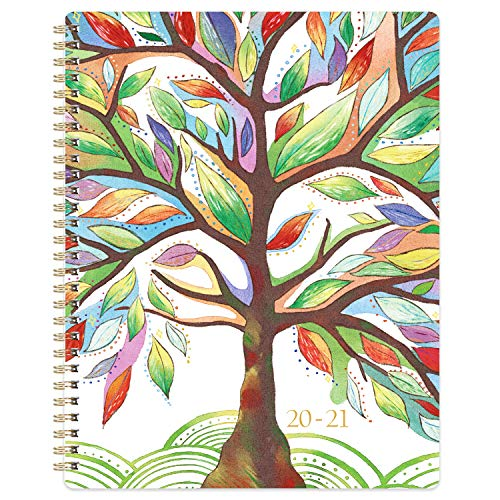 2020-2021 Planner - Academic Weekly & Monthly Planner with Marked Tabs, 8' x 10', July 2020 - June 2021, Contacts + Calendar + Holidays, Twin-Wire...