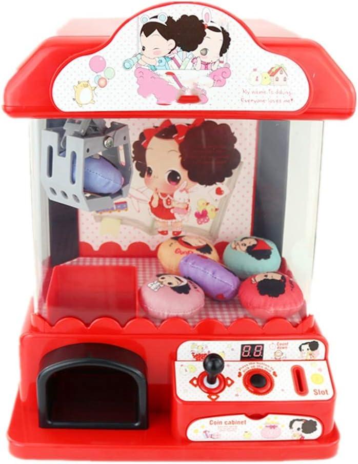 SuDeLLong El Juguete de la Garra Que Funciona con Monedas de Juguete Pequeño hogar máquina de Juego de la Educación con Sonido (Color : Photo Color, Size : 29.5x22.5x35.5cm)