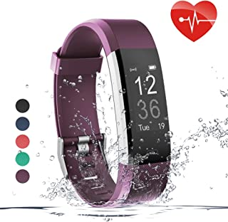 Zwirelz Fitness Tracker HR, Activity Tracker Watch with Heart Rate Monitor, Waterproof Smart Fitness Band with Step Counter, Calorie Counter, Pedometer Watch for Kids Women and Men (Purple)