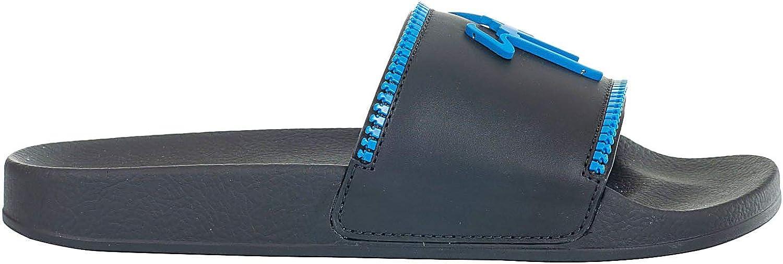 Giuseppe Zanotti Design Herren RM90012002 Schwarz Leder Sandalen