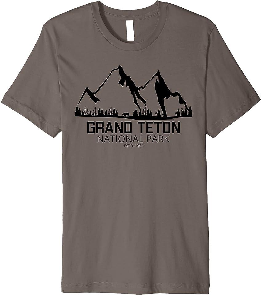Wyoming National Park Shirt Grand Teton National Park Premium T-Shirt