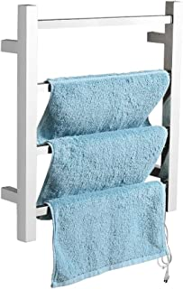 SHARNDY Electric Towel Warmer Wall Mounted 4-Bar Plug-in Polished Stainless Steel 35W UL Listed