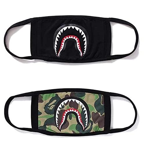 36f94fdfccf3 2 Pack Camping First Aid Kits Bape Black Black Shark Face Mask