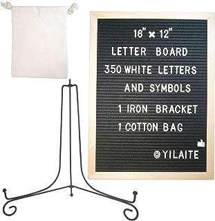 Tablero de fieltro para cartas, tablero de fieltro para cartas de 12 × 16 pulgadas, marco de madera, tablero de mensajes d...