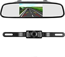 iStrong Backup Camera and Mirror Monitor Kit for Truck/Car/Pickup/Camper/SUV Mount Windshield Optional IP68 Waterproof Connecting Single Power Reversing/Driving Use Night Vision