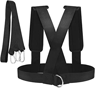 kesoto Fitness Sled Harness Vest Strength Speed Training Padded Shoulder Strap Workout Pull Resistance Band Trainer Equipment
