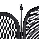 Relaxdays Funkenschutzgitter Stahl, dreiteiliges Gitter gegen Funkenflug, Kamin Funkenschutz, HxB 52,5 x 97 cm, schwarz - 6