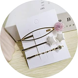 2019 Starfish Crystal Ball Star Heart Imitation Pearl Hairp Hair Accessories Sets Hairgrips Barrettes,3