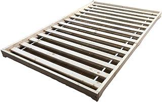 Erst-Holz Lit futon en Bois très Bas, Base idéale pour Combiner avec futon, Couchage Simple V-60.47-08, Ausstattung:sommie...