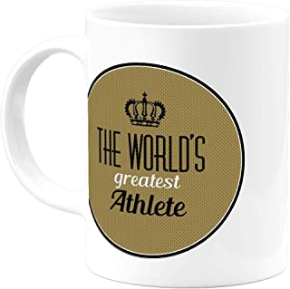 Classy Inspirational Gifts Greatest Athlete 11 Oz Coffee Mug - Cool Unique Stuff for Men Women Him Her Dad Mom Father Coworkers and Friends- Best Birthday Christmas Appreciation Novelty Cups
