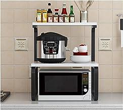 KOKOF - Estante de cocina para el hogar para el horno, almacenamiento de condimentos para condimentos, estante de cocina, estante para microondas, color negro 2