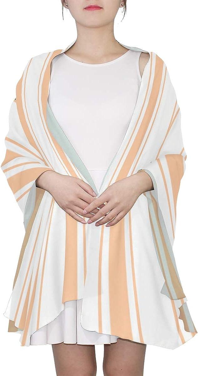 Womens Fashion Scarf Bright Color Geometric Stripe Wrap Or Shawl Long Shawl Wrap Lightweight Print Scarves Large Scarf Lightweight Big Scarf