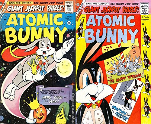 Atomic Bunny. Issues 16 and 17. Features Pepo, Cucu, The Happy Vitamin, Somethin for the freezer and the Map. Cartoon Comics. Golden Age Digital Comics. (English Edition)
