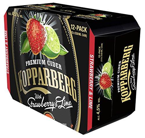 Kopparberg Erdbeer - Limette Cider (12 x 0.33 l)
