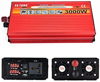 GBHJJ 3500W spänningsomvandlare, likström till växelström 12 V/24 V till 110 V/220 V, Sinus-bilspänningsomvandlare, med US...