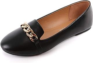 أحذية مسطحة من adeilisa للنساء سهلة الارتداء خفيفة الوزن مستديرة عند الأصابع بدون كعب أحذية الباليه المسطحة للنساء