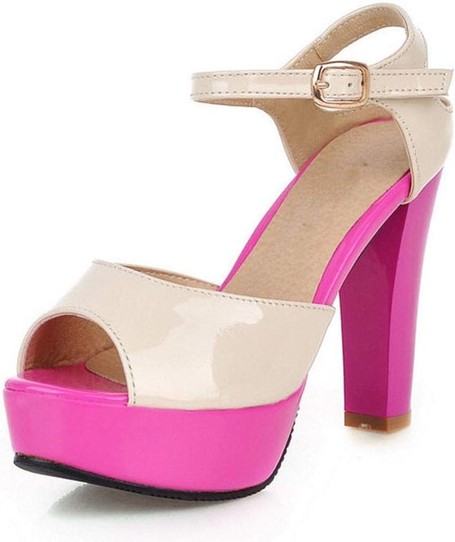 Platform High Heel Sandals Ankle Strap PEET Toe Spike Heels Sandals Summer shoes Women