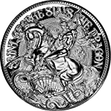 Power Coin St George Slays The Dragon 2 Oz Moneda Plata 10000 Francos Chad 2021