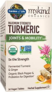 Garden of Life mykind Organics Maximum Strength Turmeric Joints & Mobility Support 30 Tablets - 500mg Curcumin (95% Curcum...