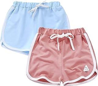 Girls' Active Dolphin Shorts 3 Packs for Kids Bike Running Summer Beach Sports