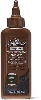 Silk Elements Semi-Permanent Hair Color Black Black