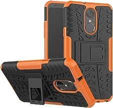 LG Stylo 4 Case, LG Q Stylus Case, LG Stylo 4 Plus, Yiakeng Dual Layer Shockproof Wallet Slim Protective with Kickstand Hard Phone Case Cover for LG Stylus 4 (Orange)