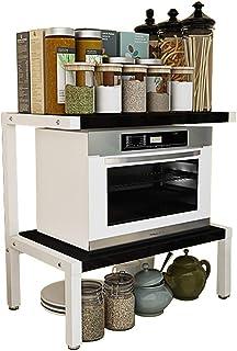 QYQYMJ Microondas 2-Capa de Cocina Microondas Rack Rack de Almacenamiento encimera Horno de Carro Simple condimento Sim...