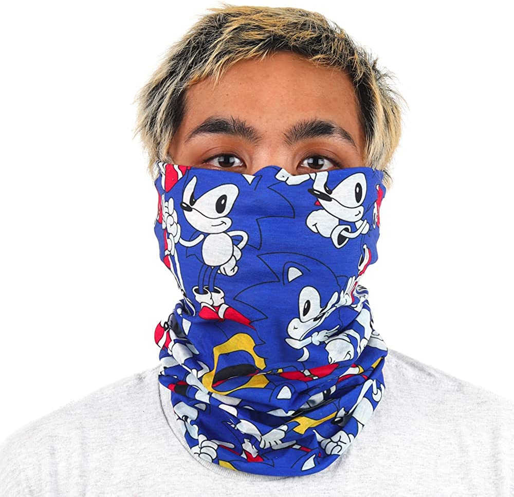 Sonic Video Game Character Blue All Over Print Adult Gaiter