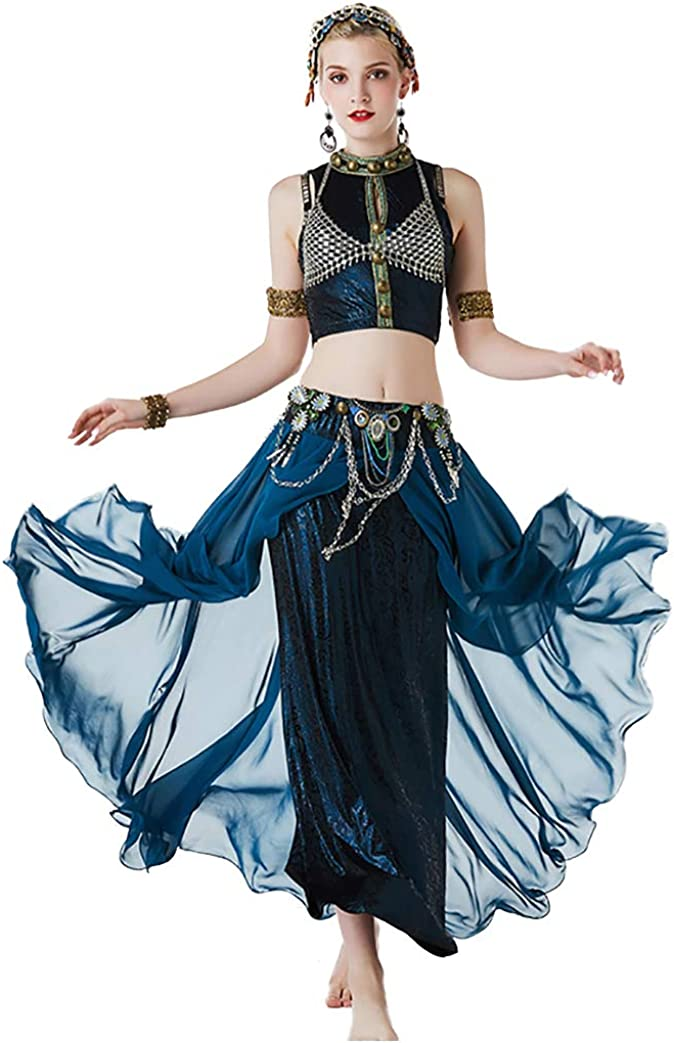 New Women Gypsy Top Belly Dance Suit Set ATS Costume Tribal Attention brand Detroit Mall Bra