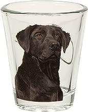 Black Labrador Portrait Shot Glass