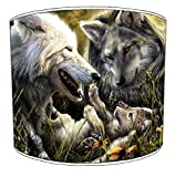 12 Inch Ceiling Wolf lampshade 6
