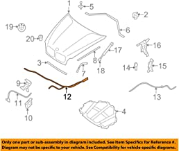 BMW OEM 07-13 X5 Hood-Latch Lock Release Cable 51237184456