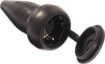 as - Schwabe Stevig rubberen koppeling 230 V/16 A met beschermkap – Schuko-koppeling met dubbel geaard contact – geaarde k...