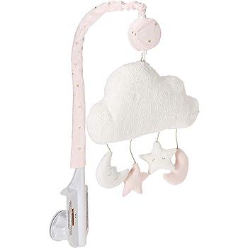 Gray and White Shabby Chic Alexa Damask Butterfly Girls Musical Baby Crib Mobile Sweet Jojo Designs B013J4ZBW0 Pink