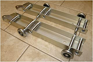 Garage Door Low Headroom Quick Turn Brackets with Steel Rollers - Pair