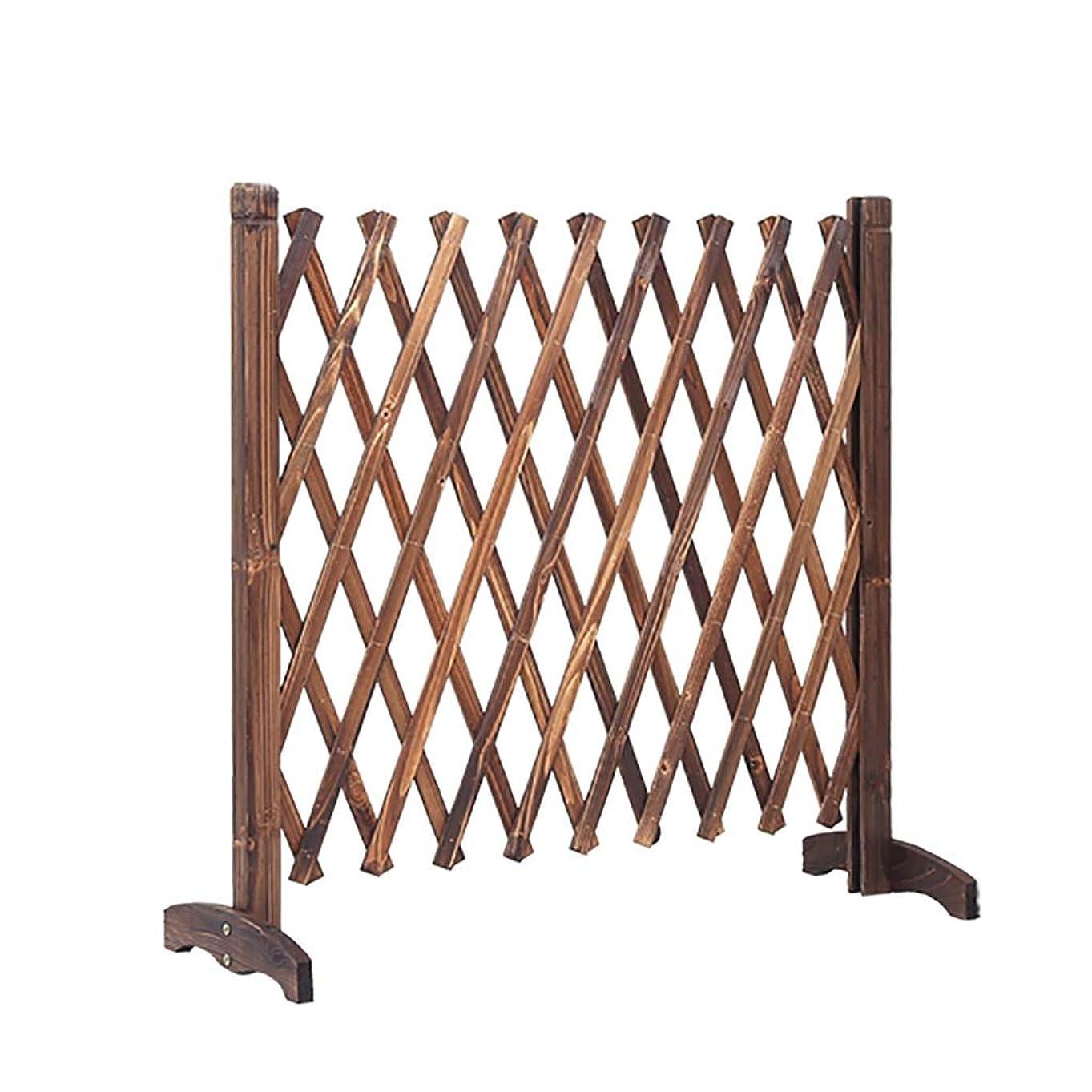 木製フェンスガーデンテレスコピックフェンスガーデン装飾グリッドフェンス, 3サイズ。 (Size : Height90cm/35.4inch)