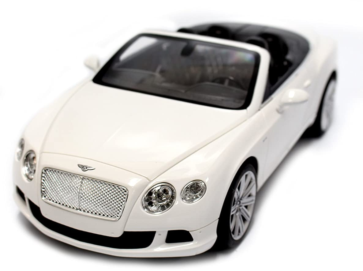 AMPERSAND SHOPS Official Licensed RC Bentley Continental GT Speed Convertible 1:12 Scale (White)