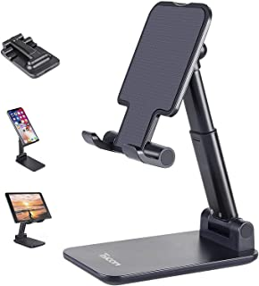 TyCom Cell Phone Stand, Adjustable Phone Stand for Desk, Foldable Tablet Stand Holder for iPhone 12 Pro Max / 12 Mini / 11...