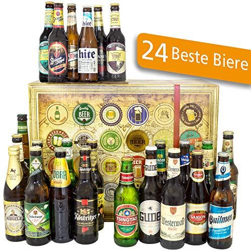 24x Biere Deutschland und Welt/Bier Geschenkset/Männer Geschenk