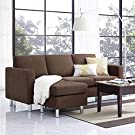 Small Spaces Configurable Sectional Sofa, Black #2