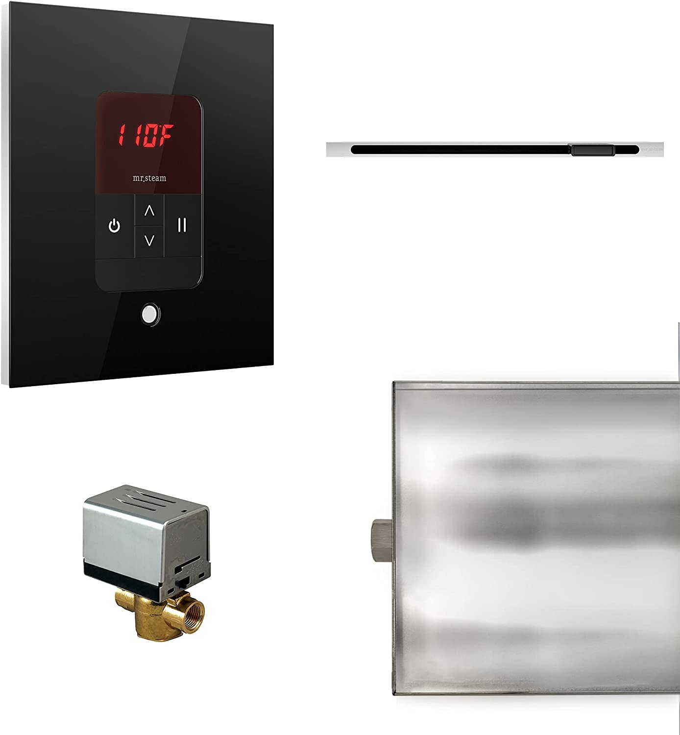 MrSteam Basic Butler Linear Square Low price Package Black Control Special Campaign