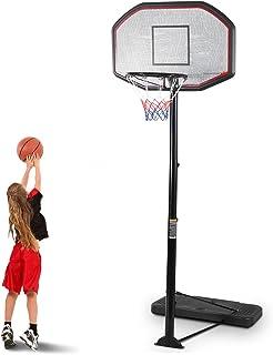 Giantex Portable Basketball Hoop Stand, Adjustable Height 6.5-10 ft, 43Inch Backboard, Portable Basketball Hoop & Goal Bas...