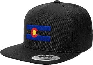 Colorado State Flag Premium Classic Snapback Hat Denver Boulder 6089M (Black)