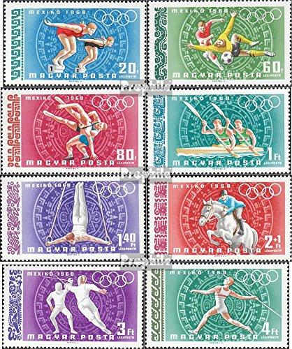 Prophila Collection Ungarn 2434A-2441A (kompl.Ausg.) 1968 Olympische Sommerspiele Mexiko 1968 (Briefmarken für Sammler) Olympische Spiele