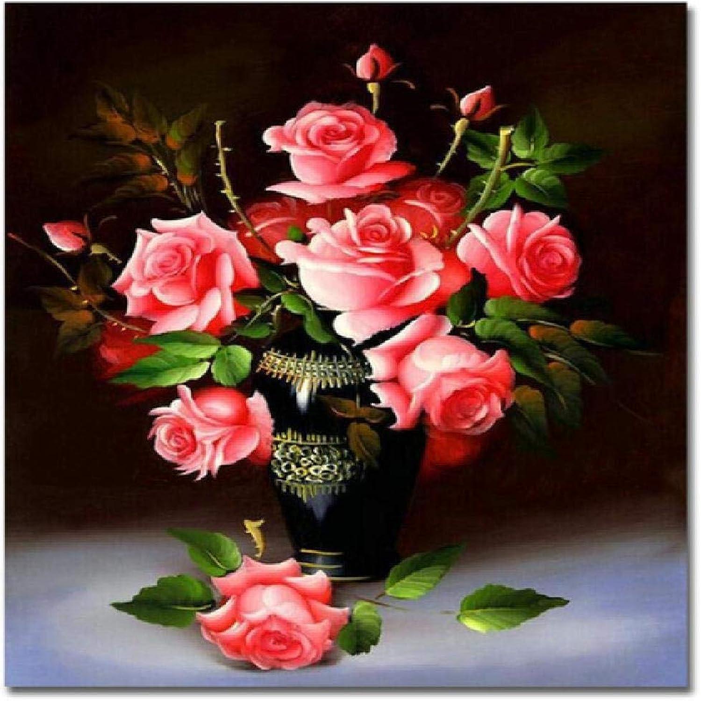 ¡envío gratis! Jjyyh Pintura por Números Flores Flores Flores B 80X100Cm DIY Preimpreso Lienzo Regalo De Pintura Al óleo para Adultos Niños Pintura por Número Kits para La Decoración Casera  100% autentico