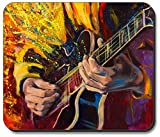 Not Applicable Alfombrilla Gruesa - Pintura Guitarrista Jazz