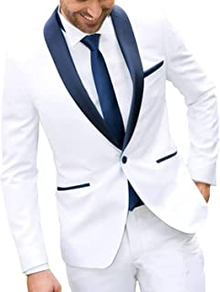 Solovedress Men's Single-Breasted Mens Suit Blazer Two-Piece Groomsmen Tuxedos