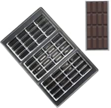 Grainrain polycarbonate chocolate bar moulds polycarbonate chocolate mold clear hard plastic candy mould bakeware candy ma...